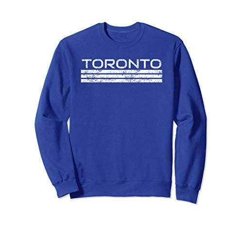 Toronto Canada Retro Vintage Weathered Stripe Sweatshirt