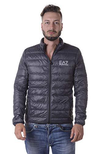 EA7 Emporio Armani Herren Lightweight Daunenjacke - Super leichte Jacke Übergangsjacke Steppjacke mit Daunenfüllung und Stehkragen, Farbe:Anthrazit;Größe:XXL