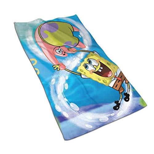 Tyueu Handtücher Spongebob and Patrick Soft Super Absorbent Quick Dry Hand Towel/Bath Towel/Beach Towel- 27.5 X 17.5 Inch