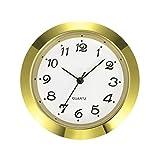 7 1 2 clock insert - Mudder 1-7/16 Inch (36 mm) Clock Insert Fit Diameter 1-3/8 Inch (35 mm) Hole, Arabic Numerals (Gold Bezel)