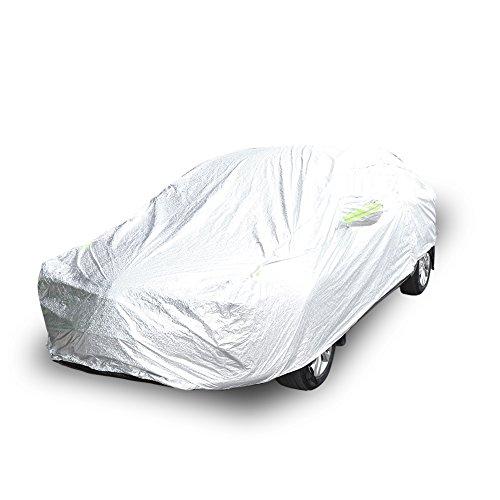 Lona coche Auto Exterior, lona funda Auto coche protectora exterior etanche protección de sol lluvia nieve anti-UV con sécurités reflectantes–lona para todas las estaciones, 470x 180x 150C m