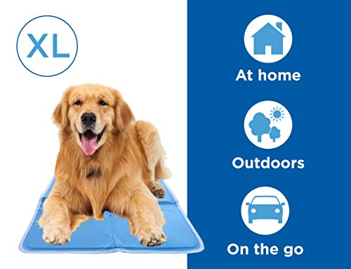 CHILLZ Cooling Pad for Dogs – Extra Large Dog Cooling Mat, 37 x 31.5 Inches – Blue Pet Cooling Mat