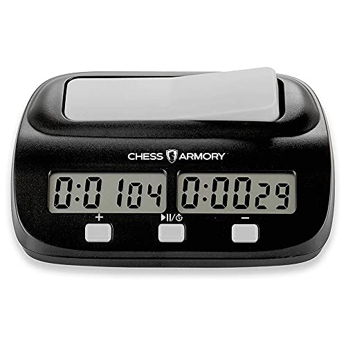 Chess Armory Digital Chess Clock - Portable Timer with Tournament and Bonus Time Features