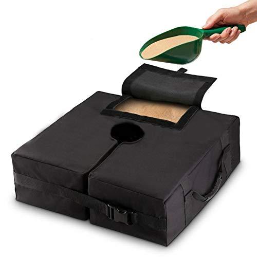 LBWNB Sombrilla Base Peso Bolsa 18'900D Pesas Sombrilla Resistentes A La Intemperie Bolsas De Arena Resistente Soporte Ergonómico Agregue Peso para Todas Las Sombrillas