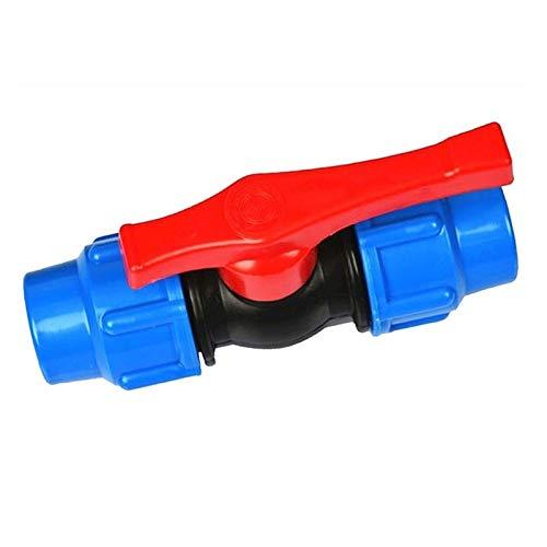 MDD 20/25/32/40/50/63 Mm Connettore della Valvola di Acqua in Plastica con Tubo di Plastica, Valvole A Sfera in PE (Color : Blue, Size : 25mm)