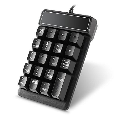 19 teclas teclado de Numberic Wired