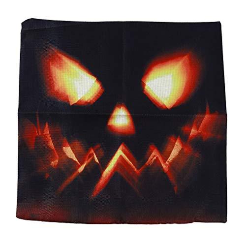 YESMAEA Fundas de cojín de Halloween con diseño de bruja y fantasma de Halloween para decoración de sofá, coche y accesorios, estilo 2