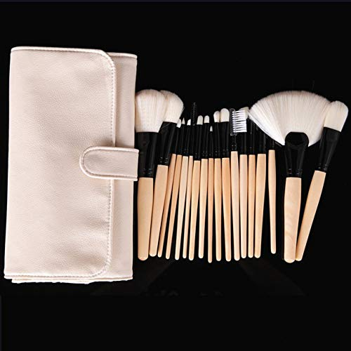 PoplarSun Maquillage Professionnel Pinceaux synthétique Souple Make Up Kit beauté Fond de Teint Poudre Fard à Joues Eeyshadow Liner Outils Brow Gloss (Handle Color : 18 Brushes and Bag)