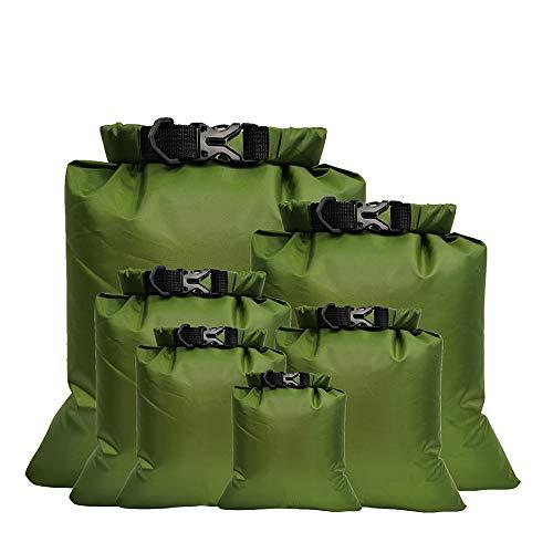 Lixada 5/6 Pièces Sacs de Rangement Imperméables en Plein Air Sacs de Rangement, pour Camping-Nautique Sacs de Rangement pour Appareil Photo pour Smartphone (1,5 L + 2,5 L + 3,0 L + 3,5 L + 5,0 L)