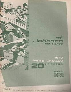 1970 JOHNSON SEA-HORSE OUTBOARD 20 HP PARTS MANUAL P/N 384396 (253)
