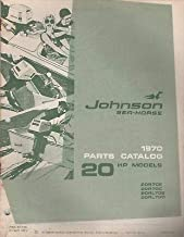 1970 JOHNSON SEA-HORSE OUTBOARD 20 HP PARTS MANUAL P/N 384396 (253)