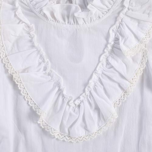 2 Piezas Conjunto de Camisa y Falda para Bebé Niña 1-6 Años Camiseta de Volantes con Manga Larga + Falda Acampanada de Botones con Tirantes Traje Completa de Primavera Otoño (Amarillo, 1-2 Años)