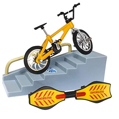 Pohove - Juego de monopatín para bicicleta con diapasón, juguete educativo divertido para bicicleta, regalo de cumpleaños para niños y niñas