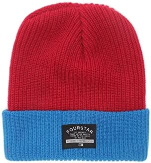 Fourstar Men s 2 Tone Fold Beanie Red One Size product image