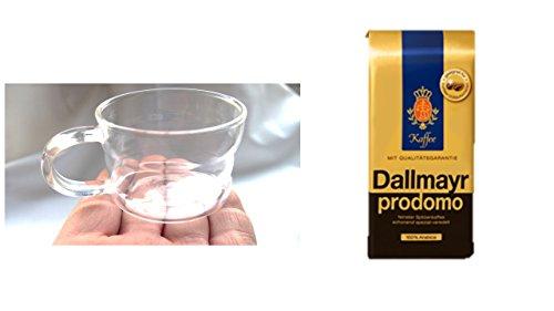 Dallmayr Prodomo ganze Bohnen 500g + 200ml Tassen mit Henkel im Geschenkkarton Osteraktion