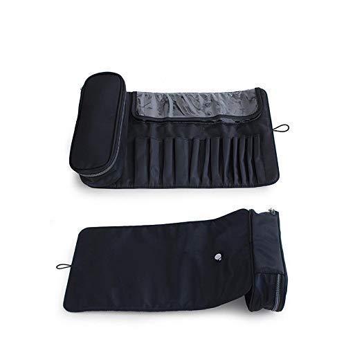 SKUXIU - Bolsa de cosméticos para brochas de maquillaje, bolsa de almacenamiento, bolsa plegable multifunción, Gray (Gris) - D0BERKTT10