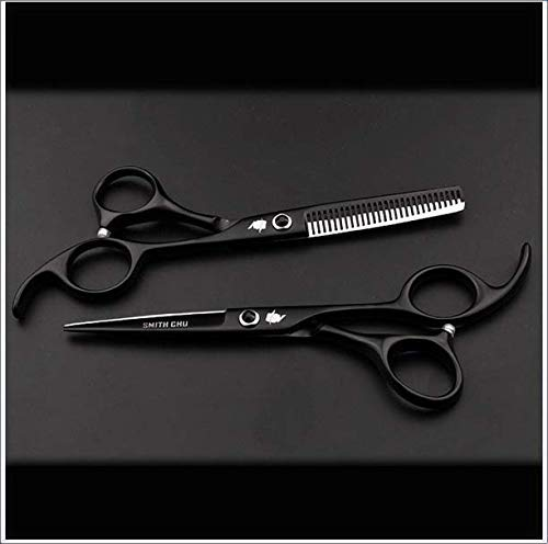 XYNB Handed Professional Hair Cutting Scissor Hair Cisors Hairdressing Cisors Kit Hair Straight Thinning Scissors Hairdressing Salon Tools Left, 5.5 inch Set, 5.5 inch Set