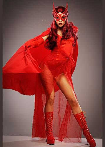 Disfraz de superhéroe Estilo Bruja Escarlata para Mujer Medium (UK 10-12)