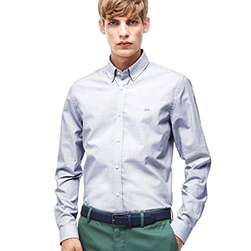 Lacoste Herren Business-Hemd Mehrfarbig Hellblau Einheitsgröße Gr. Size 40 - M, Grau - Iodine/White