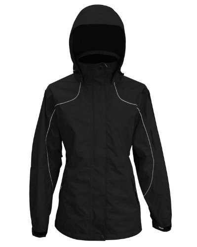 Price comparison product image Viking Women's Creekside Waterproof and Windproof All Weather Shell Jacket with Reflective Piping,  Black