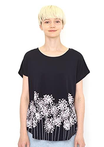 (グラニフ) graniph ラウンドネック Box Tシャツ/スパークラー フラワー (ネイビー) レディース Lady(F) (g...