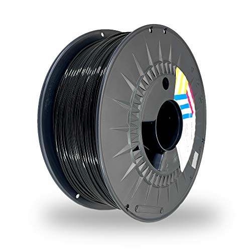 Eolas Prints Basics | Filamento PLA 1.75 | Stampante 3D PLA Plus | Adatto per uso alimentare | Bobina leggera | 1,75 mm | Bobina 1 kg | Nero