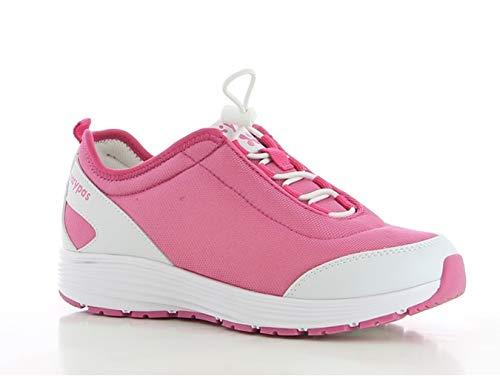 Oxypas Maud SRA Damen Arbeits- und Sicherheitsschuhe | Sneaker, Farbe: Fuxia, Größe: 40