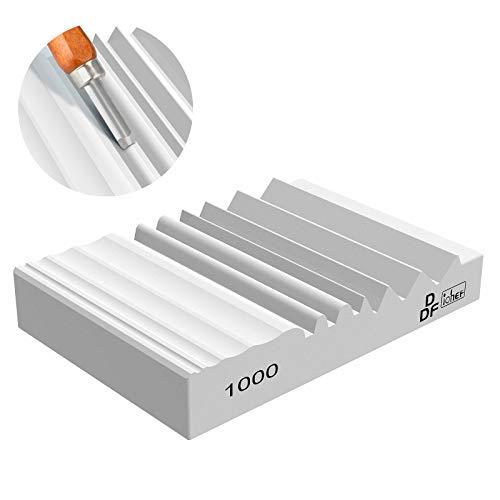 DDF iohEF - Affilatrice per intagliare il legno, grana 1000, con scanalature, per affilare il legno, per intaglio del legno, scalpelli e sgorbie