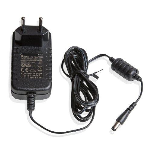 Ktec UE Fuente de alimentación Universal (2A, 12 V, 50/60 Hz), 5.5 x 2.5 mm, Longitud del Cable 183 cm, Negro