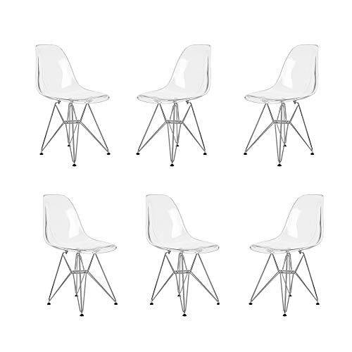 Lot de 6 Chaises Acrylique Polycarbonate