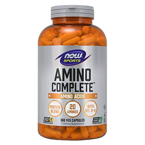 NOW Sports Nutrition, Amino Complete, Protein Blend With 20 Aminos and B-6, 360-Capsules