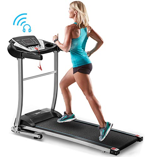 Merax Folding Treadmill Electric Motorized Treadmill with Speakers for Home Use,Easy Assembly Running Machine,12 Preset Programs