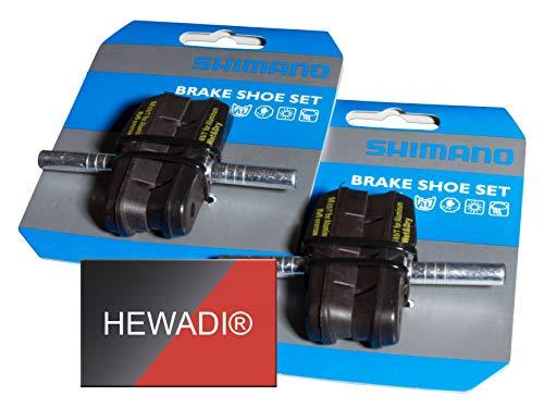 SHIMANO Unisex– Erwachsene M65T Bremsschuh, schwarz, 2 Paar
