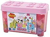 Jouets Ecoiffier -7780 - Baril rose + briques à empiler Animaux Abrick Maxi – Jeu de construction pour enfants – 50 pièces – Dès 12 mois – Fabriqué en France