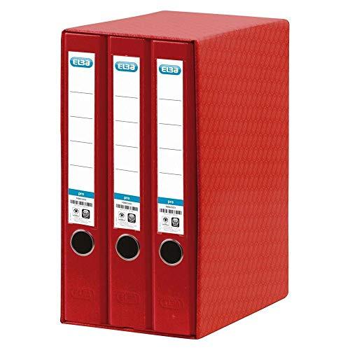 Elba Rado Top - Módulo 3 archivadores estrechos, color rojo