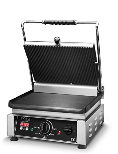 Profi Gourmet Grill - Doppel Kontaktgrill von Caso mit 2500 Watt gerillt/glatte Bratfläche