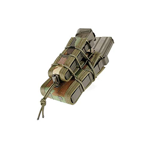 High Speed Gear Double Decker Taco Pouch   Double Stack Magazine Holster for Rifles and Pistols   MOLLE Compatible for Rapid Response (Woodland Camo, One Pack)