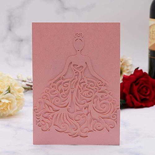 HZWLF Decoración de Vacaciones Regalo Tarjeta de felicitación Boda 35Pcs Invitación Dulce Nupcial sobre Personalizado para Invitación Rosa