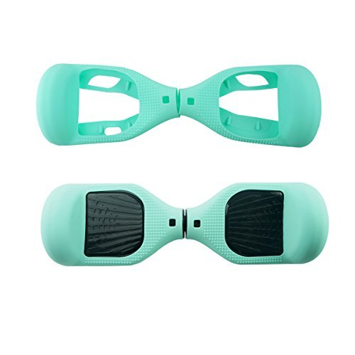 FBSPORT 6.5inch Silicone Scratch Protector Cover Case for 2 Wheels Self Balancing Electric Scooter (New 108 Blue/Black)