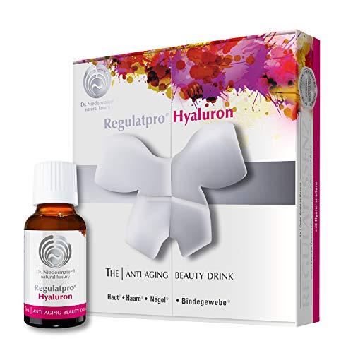 Dr. Niedermaier Regulatpro® Hyaluron I Bebida de belleza con ácido hialurónico, vitamina C, vitamina D, biotina, zinc y cobre, antienvejecimiento, ácido hialurónico para beber, 7 x 20 ml