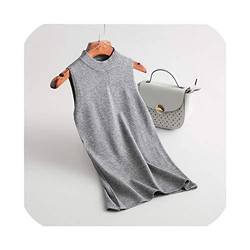 Prachtige wolken Vrouwen Elegante Coltrui Mouwloze Trui ladis Effen Kleur Streetwear