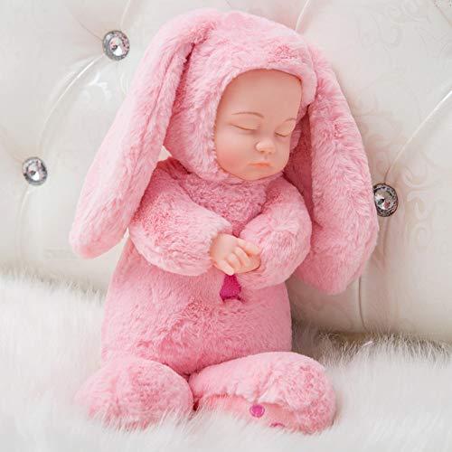 MYYXGS Baby Girl Doll Boy Doll muñeca acompañante muñeca de Silicona Realista Regalo de cumpleaños 35CM