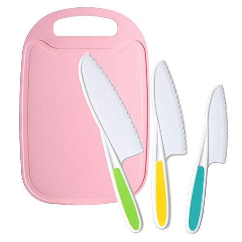 Jatidne Kids Knives for Cooking Children Knife Safety Knife Kitchen Knife Set Plastic Knife Set for Lettuce Salad