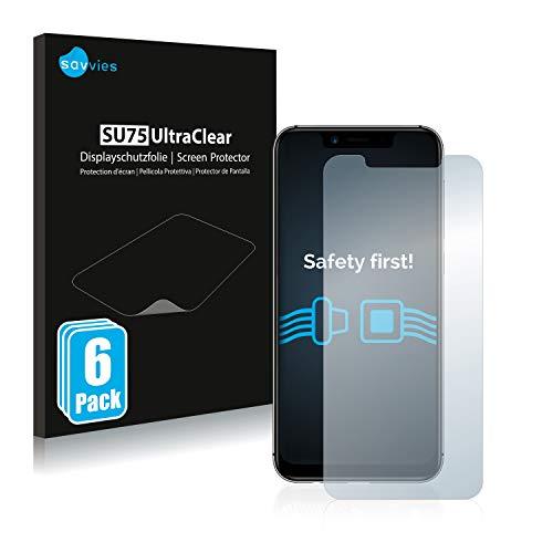 Savvies 6X Schutzfolie kompatibel mit Umidigi A3 Pro Bildschirmschutz-Folie Ultra-transparent