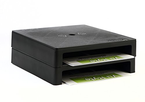Vu Ryte Stackable 2 Inch Computer Monitor Riser Stand, VuRyser 2, 11.37 X 11.37 X 2 Inches, Black, Set of 2, VUR 4855