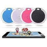 Shoplifemore Traceur de collier de chien GPS Bluetooth intelligent pour localiser les chiens et chats - Moniteur d'activité étanche et anti-perte - Blanc