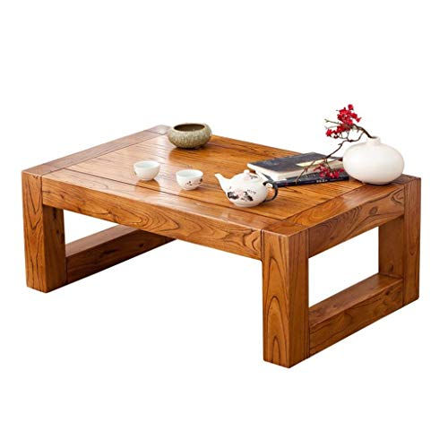 Tables basses Meubles en Bois Massif Salon Maison for lit Tatami Balcon Table en Bois Chambre à Coucher, Autonome Tables (Color : Wood, Size : 30 * 40 * 60cm)