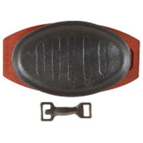 Lockhart D2098 Sizzle Platter Cast Iron Oval, 28 cm x 21 cm
