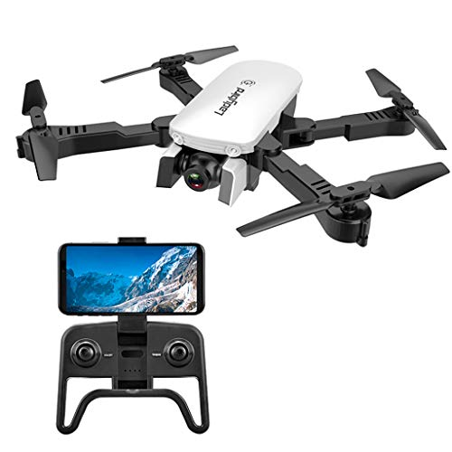 IIIL Foldable Mini RC Quadcopter 4K Selfie Drone, HD Dual Camera FPV Ladybird Altitude Hold Optical Flow RC Drone Helicopter Best Gift for Child,720p White