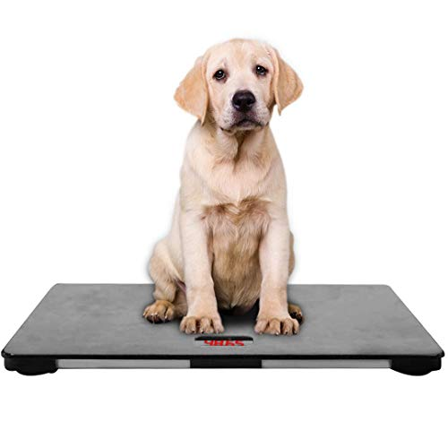 Digital pet Scale for Dogs, Animal Scale Platform, 3 Weighing Modes, kg, oz, lb, MAX 220 lbs, Capacity with Precision of 10g, 25.6 17.7inch,Black